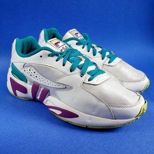 FILA Mindblower Casual White, Purple, Teal Shoes